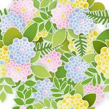Elegant floral seamless background with 3d paper flowers. And leaves. Spring floral pattern. Origami trendy design template. Paper cut spring flower holiday Stock Illustration