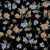 Elegant floral seamless pattern background for your design. Elegant floral seamless pattern background Stock Image