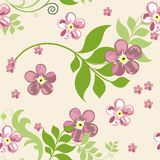 Elegant floral seamless pattern background for your design. Elegant floral seamless pattern background Stock Images