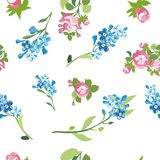 Elegant floral seamless pattern background for your design. Elegant floral seamless pattern background Stock Photo