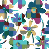 Elegant floral seamless pattern. Elagant and simplistic vector seamless pattern design, repeating background with spring flowers for web and print use Royalty Free Stock Images