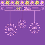 Elegant floral spring sale advert template Royalty Free Stock Images