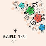 Elegant floral vintage background Royalty Free Stock Photography