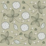 Elegant floral vintage background Royalty Free Stock Image