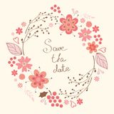 Elegant floral wreath vector illustration