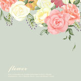 Elegant flower background design Royalty Free Stock Photo