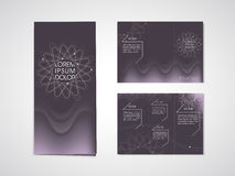 Elegant flower shape background tri fold brochure Royalty Free Stock Photography