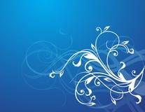 Elegant flowers. On blue gradient background Stock Image
