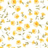 Elegant flowers fabric. Stock Photo
