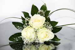 Elegant flowers with yellow roses Stock Images