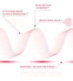 Elegant flowing lines vector background, royal design elements, Royalty Free Stock Images