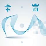 Elegant flowing lines vector background, royal design, eps8. Rom Stock Image