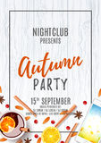 Elegant flyer for autumn party Royalty Free Stock Images