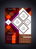 Elegant flyer or cover design template Royalty Free Stock Photo