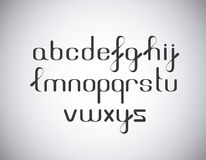Elegant font type. Elegant black font type style stock illustration