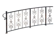 Elegant forged railing. Royalty Free Stock Images