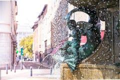 The elegant fountain. Stock Photos