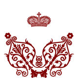 Elegant  frame banner with crown.. Stock Photos