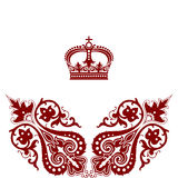 Elegant  frame banner with crown. Royalty Free Stock Photo