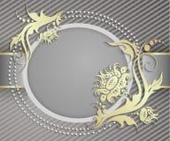Elegant frame banner. Luxury floral background Stock Photography