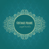Elegant frame on a blue background Royalty Free Stock Photos