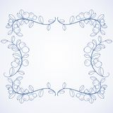 Elegant frame with blueberries. Royalty Free Stock Images