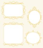 Elegant Frame Border Decorations Set Royalty Free Stock Photos