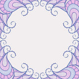 Elegant frame in lilac colors. It can be used like background and frame for text Stock Photos