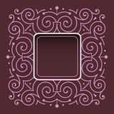 Elegant frame ornament Royalty Free Stock Images