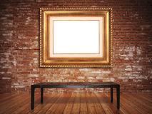 Elegant frame with a rustic background Royalty Free Stock Photo