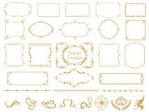 Elegant frame set vector illustration