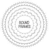 Elegant frame templates. Borders design. Round frames set. Stock Photography