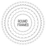 Elegant frame templates. Borders design. Round frames set. Royalty Free Stock Images