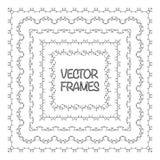 Elegant frame templates. Borders design. Square frames set. Vintage decorative elements. Vector illustration. Page decoration Royalty Free Stock Photos
