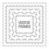Elegant frame templates. Borders design. Square frames set. Royalty Free Stock Photo