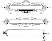 Elegant  frames Stock Images