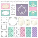 Elegant frames, templates and design elements. Royalty Free Stock Images