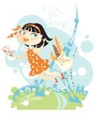 Elegant French girl royalty free illustration