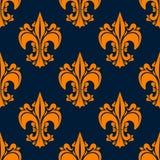 Elegant french seamless fleur-de-lis pattern Stock Photos