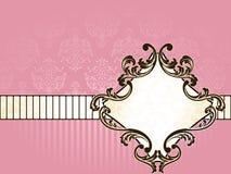 Elegant French vintage label, horizontal Royalty Free Stock Images