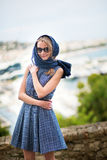Elegant French woman in Cannes Royalty Free Stock Photography