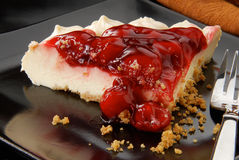 Elegant Frenchcream cheesecake with cherries Stock Photography