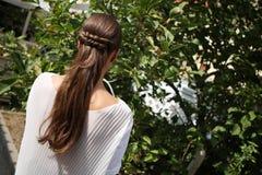 Elegant frisyr Arkivfoto