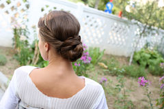 Elegant frisyr Fotografering för Bildbyråer