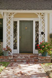 Elegant Front Door in Fall Royalty Free Stock Photography