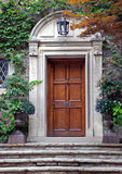 Elegant front door with ivy Stock Images