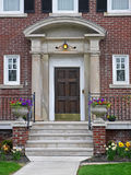 Elegant front porch. Of large house Royalty Free Stock Photo