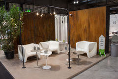 Elegant furniture at Macef home show in Milan Royalty Free Stock Image