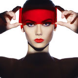 Elegant futuristic lady Stock Images