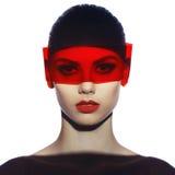 Elegant futuristic lady royalty free stock images